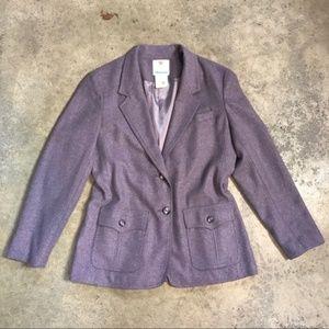 Vintage 70s Lavender Purple Equestrian Wool Blazer